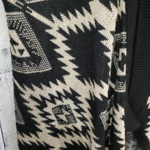 Lumiere Sweaters - Lumiere tribal open front cardigan sweater medium